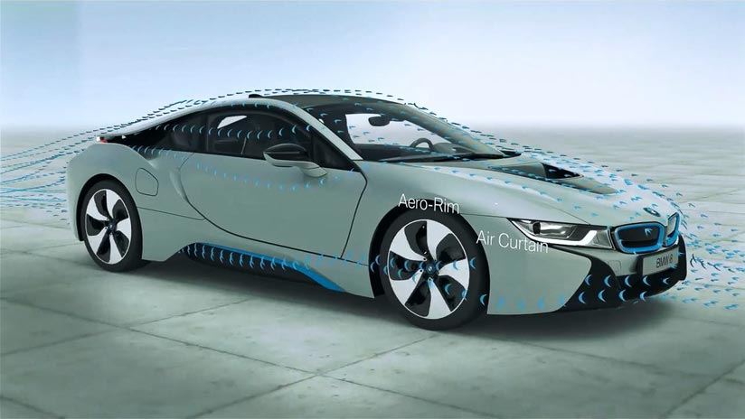 BMW Group - BMW i8 Windkanal