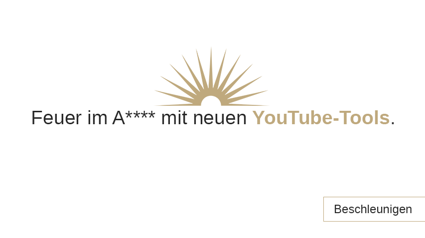 Brandneue YouTube-Tools